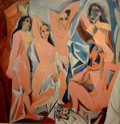 © Picasso, De jongedames van Avignon, 1907, c/o Pictoright Amsterdam 2018